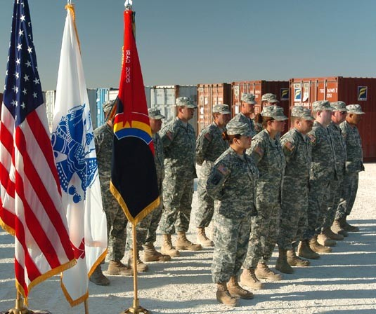 42nd Infantry Division Soldiers Re-enlist during Operation Bright Star, Nov. 12, 2007