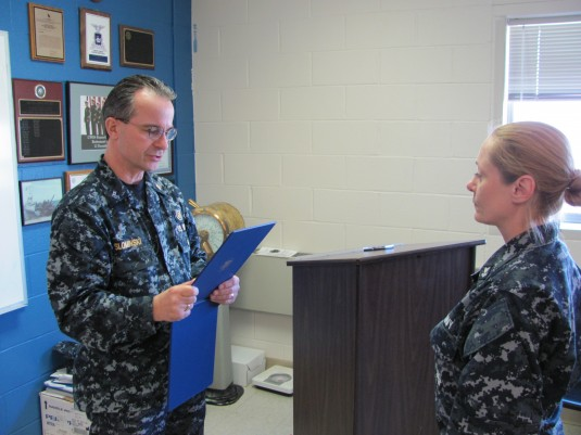Naval Militia Coxswain Recognized