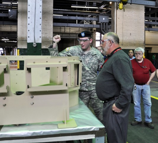 National Guard Sergeant Thanks Arsenal Employees