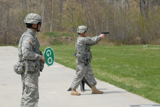 Troops of the 258th Field Artillery Qualify at Fort Drum