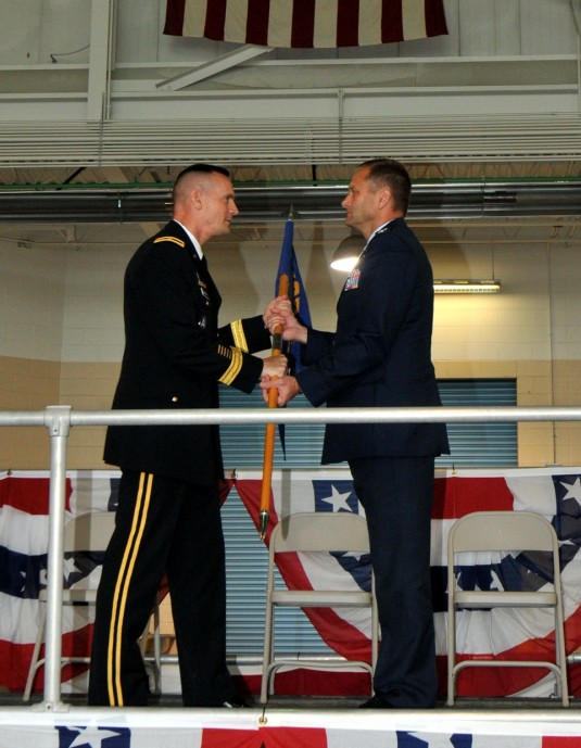 Flag transfer at 109th AW