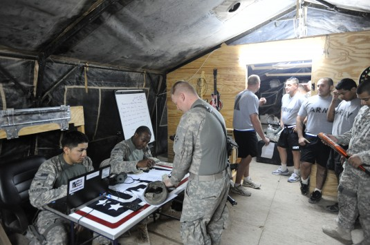 New York Army National Guard troops provide financial support to Soldiers in Iraq