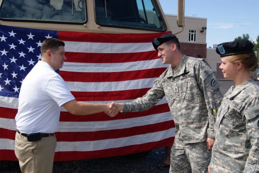 Spc. Frank Rosales joins the NY Army National Guard on July 4th