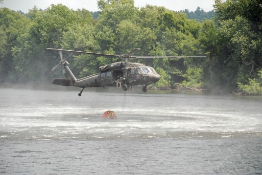 Helicopter dunking Bambi Bucket