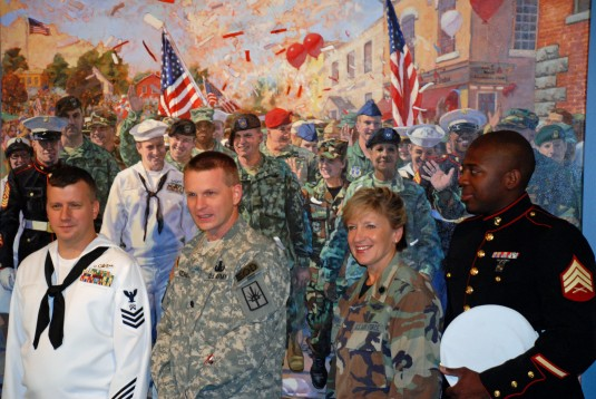 Soldiers Honored in Painting