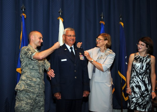 NewYork Air Guard General Pins On Second Star