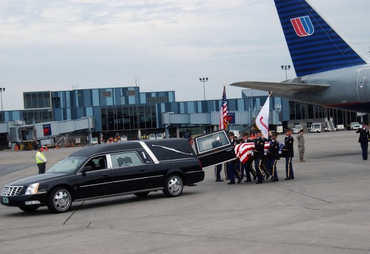 Honor Guard bearing casket