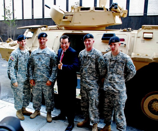 Soldiers with Stephen Colbert