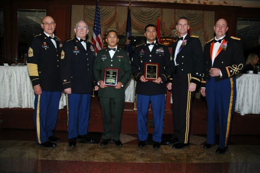 Soldiers with their awards