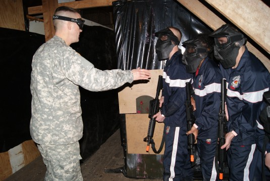 Army National Guard recruits prepare to execute a training mission