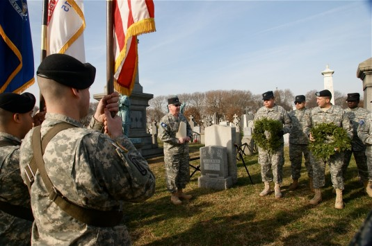 New York Guard and New York National Guard members conduct ceremony,