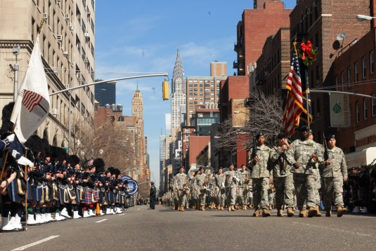 'Fighting' 69th Leads 250th St. Pat's Day Parade