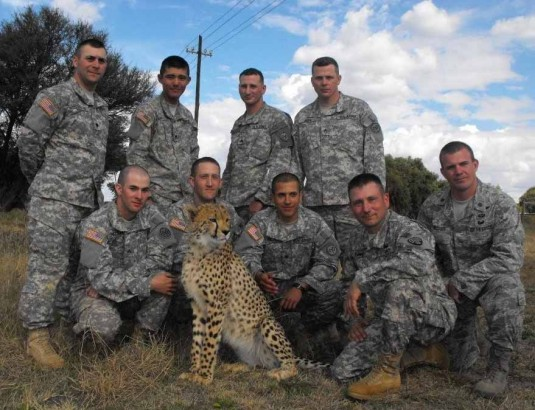 New York Army National Guard Soldiers and Cheetah