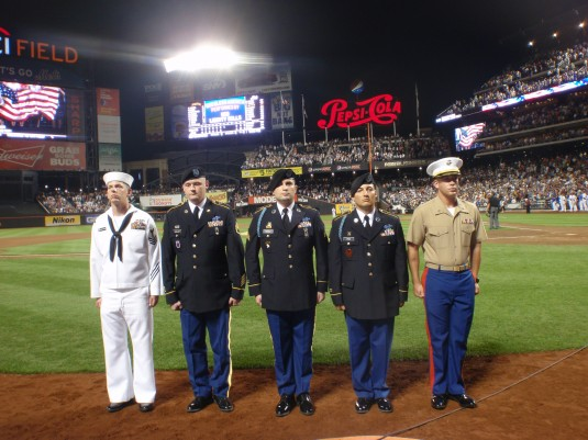 New York Guard Soldiers Honored by New York Mets
