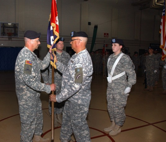 Command Sergeant Major Rentz Passes the Torch