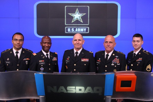 Army Guard General Marks Army Birthday at NASDAQ