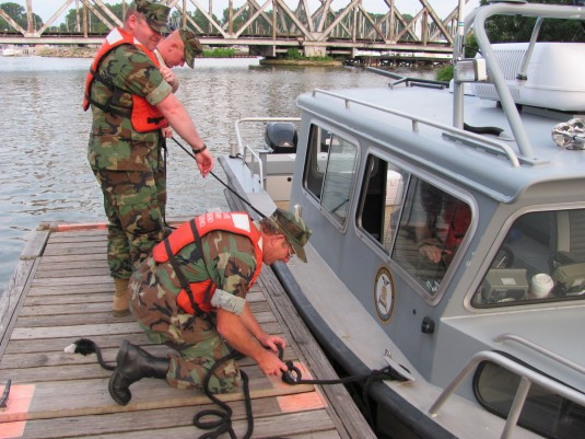Naval Militia Boat Training in Rochester