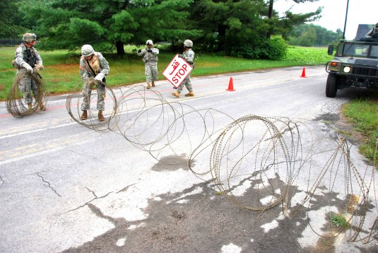 27th BCT mounted training lane Aug 15, 2011