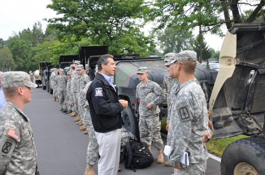 Governor Meets with New York Guard Soldiers