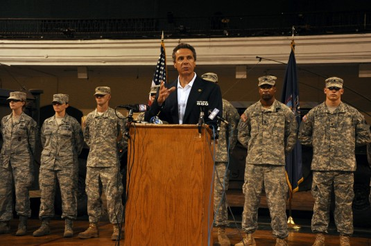 Cuomo Mobilizes More Forces for Hurricane Irene Aug. 27, 2011