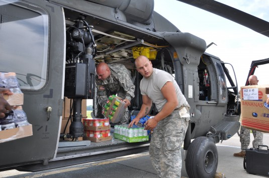 Aviators Load Supplies for Mountain Towns