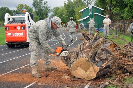 National Guard Airmen Clear Middleburgh School
