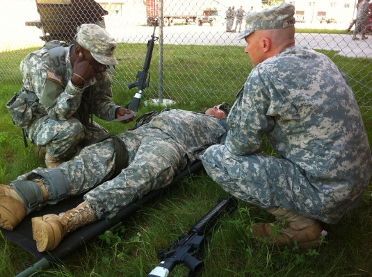 Troop Command Soldiers in Mil Stakes Contest