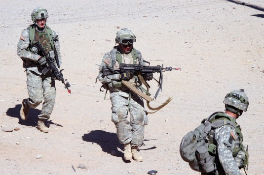 New York Soldiers Train in the Desert