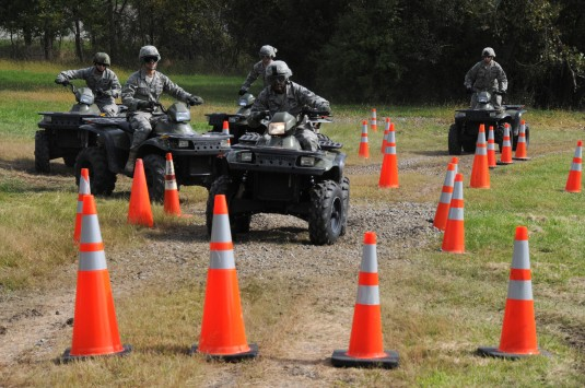 Air Guard Security Forces Learn ATV Skills