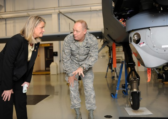 Congresswoman Checks Out Air Guard MQ-9
