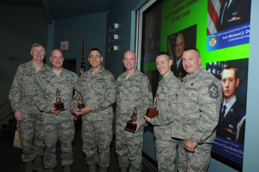 Airmen receiving recognition awards