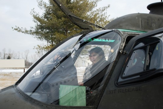 Deputy Secretary Inspects Army Guard Helicopter