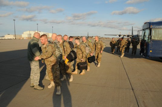 Thirteen members of the New York Air National Guard's 107th Airlift Wing departed Niagara Falls Air Reserve Station on Saturday, February 25 for a three week intensive training event at Fort Bliss, Texas.