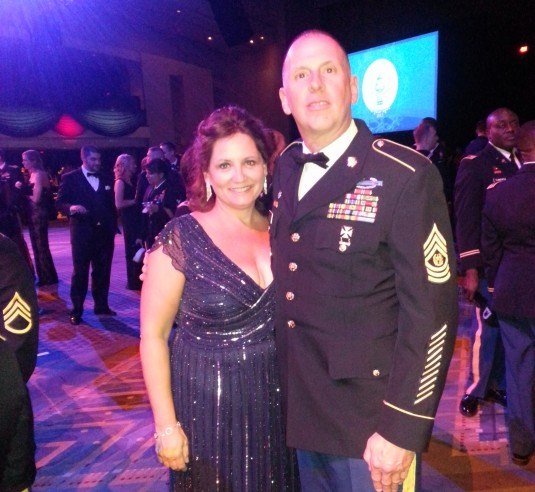 New York Army National Guard Command Sgt. Major Frank Wicks and his wife Beth enjoy the Commander-in-Chief's Inaugural Ball on Monday, Jan. 21.