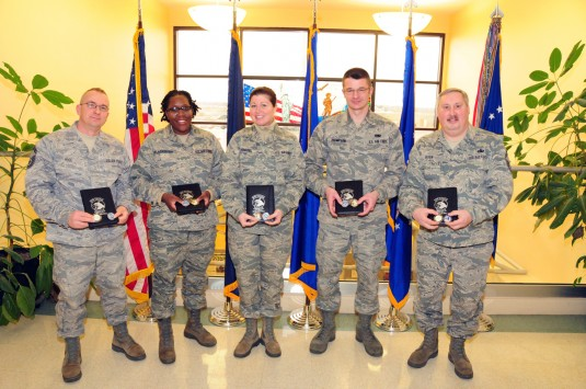 The 107th Airlift Wing recognized members of the Logistics Readiness Squadron who recently completed the 107 Airlift Wing Mishap Prevention Program.