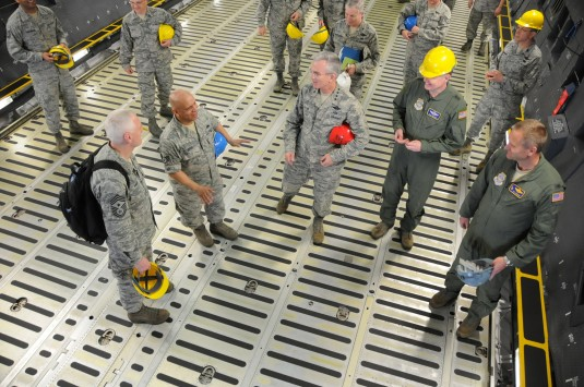 Air Mobility Commander Visits 105th