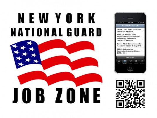 Looking for an employer interested in hiring members of the New York National Guard?  Now there's an App for that!