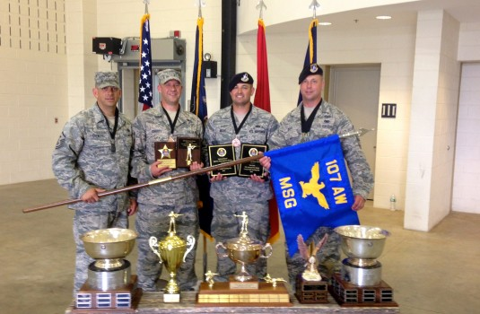 Members of the 107th Airlift Wing TAG Match Team Display their Awards