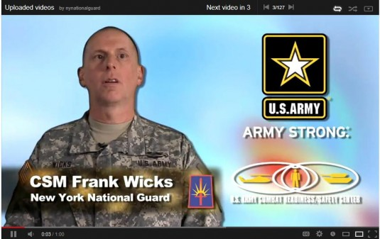 See New York State Command Sgt. Major Frank Wick&#39s summer safety message. Click on the link below to view his message to New York National Guard Soldiers and Airmen.