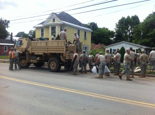 Troops Assist in Community Flood Recovery