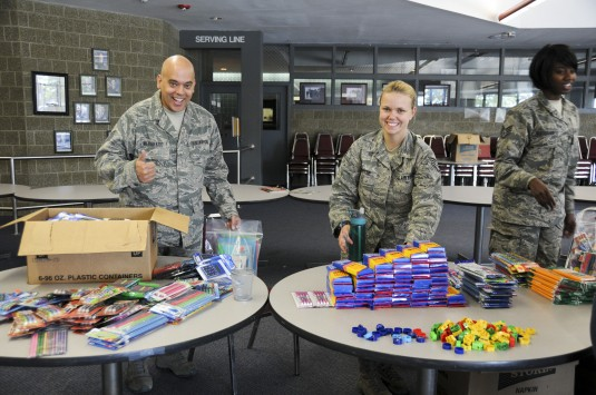 Guard Airman Collect School Supplies for Kids