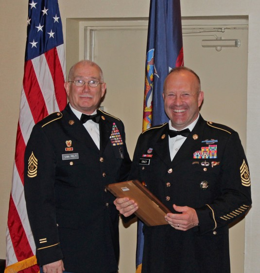 Army National Guard Command Sgt. Maj. Brunk W. Conley, at the Fifth Annual Capital District of New York AUSA Soldier Recognition Banquet in NY on Sept. 14