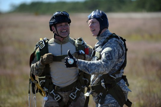Army Sgt. Major Jumps with 106th Rescue Wing