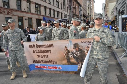 Recruiters March in Veterans Day Parade