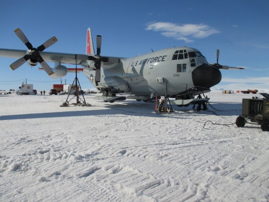 LC-130 Repairs on the Ice