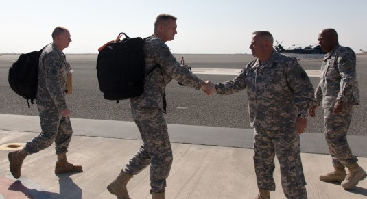 Adjutant General Visits Guard Soldiers in Kuwait