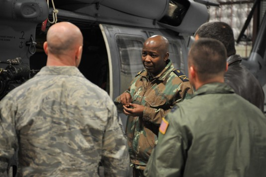 South African General Visits 106th Rescue Wing