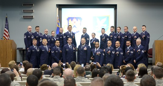 Twenty New York Air National Guard Airmen with the 105th Airlift Wing Security Forces Squadron New York Air National Guard received 29 medals  during an awards ceremony attended by Lieutenant General Stanley E. Clarke III Director of the Air National Guar