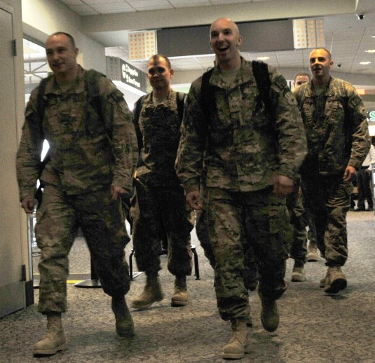New York Air National Guard Airmen of the 109th Airlift Wing return to the Capital Region from Bagram, Afghanistan on Saturday, March 15.