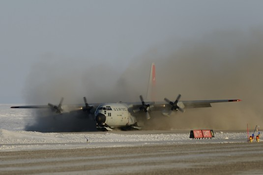 New York LC-130 Lands For Canadian Exercise